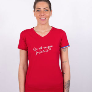 t-shirt CDD femme à message humoristique la perplexe