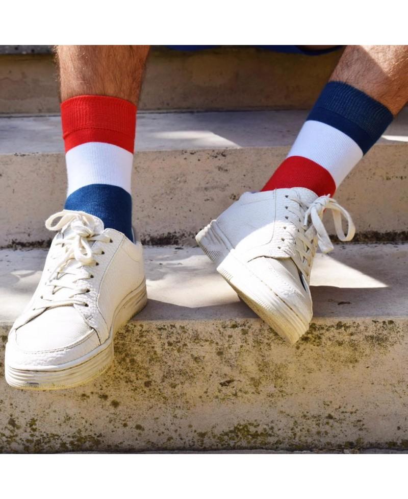 """chaussettes dépareillées Sock Socket """" Les Francis"""" 100% made in France"""