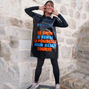 robe sac poubelle d'avant course imprimé humoristique marque Douzaleur